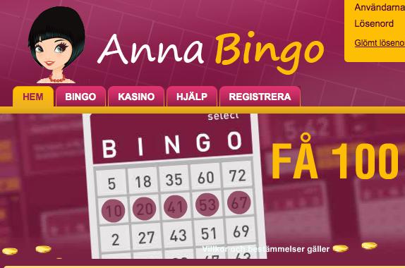 anna bingo race